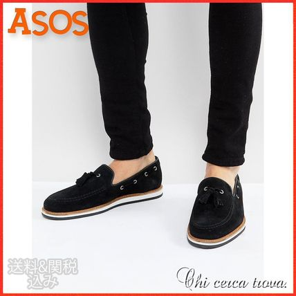 ASOS Loafers Suede Tassel Plain Loafers & Slip-ons