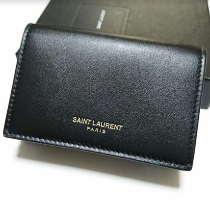 Saint Laurent Unisex Leather Folding Wallets
