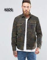 ASOS Camouflage Long Sleeves Cotton Shirts