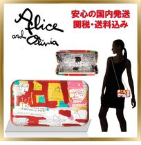 Alice+Olivia Casual Style 2WAY Chain Leather Clutches