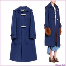 MARNI Casual Style Wool Plain Long Duffle Coats