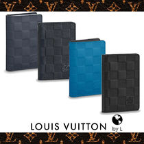 Louis Vuitton DAMIER INFINI Other Check Patterns Leather Card Holders