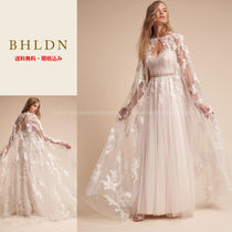 BHLDN Flower Patterns Plain Long Lace Boleros & Shawls