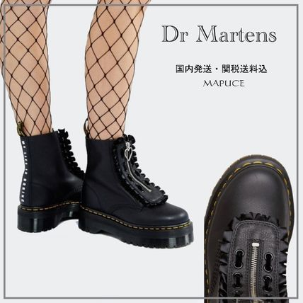 Dr Martens Round Toe Casual Style Collaboration Plain Leather
