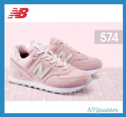 New Balance 574 Casual Style Suede Street Style Plain Low-Top Sneakers