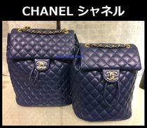 CHANEL MATELASSE Bag in Bag Chain Plain Leather Elegant Style Backpacks
