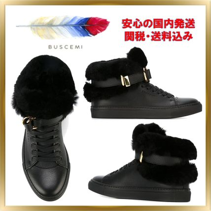 Casual Style Unisex Plain Leather Low-Top Sneakers