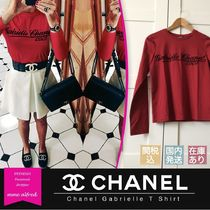 CHANEL Crew Neck Short Long Sleeves Cotton Special Edition Cropped