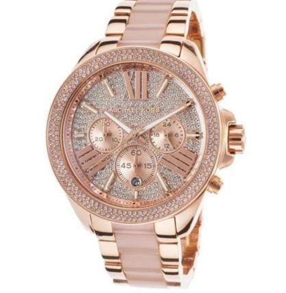 Michael Kors Blended Fabrics Chain Round Party Style Quartz Watches