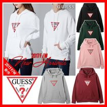 Guess Casual Style Unisex Long Sleeves Cotton Long