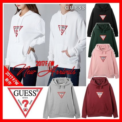Guess Unisex Long Sleeves Cotton Hoodies