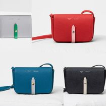 CELINE Strap Casual Style Plain Leather Clutches