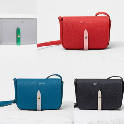 CELINE Strap Casual Style Plain Leather Luxury Brand Bag Clutches
