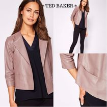 TED BAKER Short Casual Style Leather Biker Jackets
