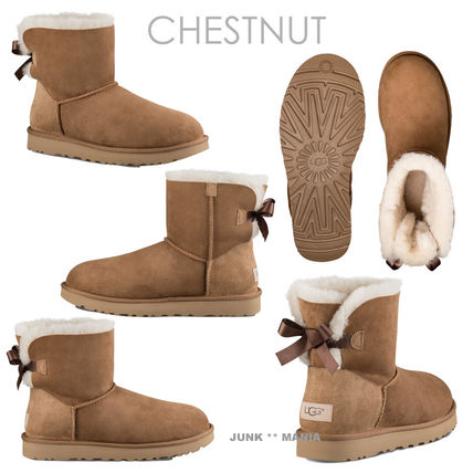 UGG Australia Ankle & Booties Casual Style Sheepskin Plain Ankle & Booties Boots 3