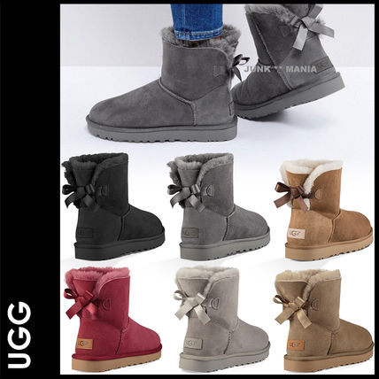 UGG Australia Ankle & Booties Casual Style Sheepskin Plain Ankle & Booties Boots