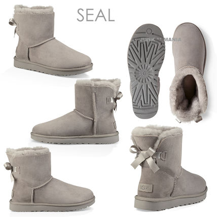 UGG Australia Ankle & Booties Casual Style Sheepskin Plain Ankle & Booties Boots 5