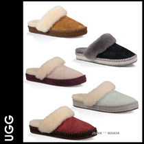 UGG Australia AIRA Plain Toe Casual Style Bi-color Leather Slippers Shoes