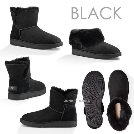 UGG Australia Ankle & Booties Plain Toe Casual Style Sheepskin Plain Ankle & Booties Boots 2