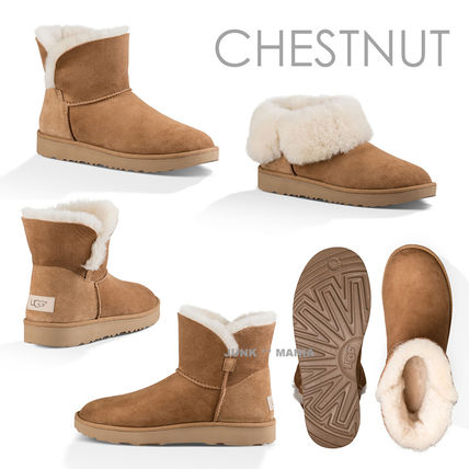 UGG Australia Ankle & Booties Plain Toe Casual Style Sheepskin Plain Ankle & Booties Boots 3