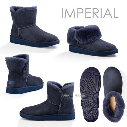 UGG Australia Ankle & Booties Plain Toe Casual Style Sheepskin Plain Ankle & Booties Boots 4