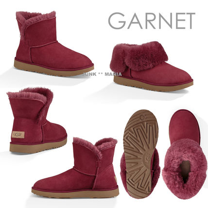 UGG Australia Ankle & Booties Plain Toe Casual Style Sheepskin Plain Ankle & Booties Boots 6