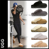 UGG Australia COQUETTE Casual Style Sheepskin Plain Slippers Slip-On Shoes