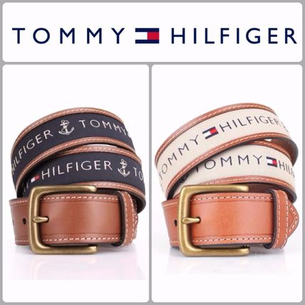 Tommy Hilfiger Casual Style Unisex Leather Belts