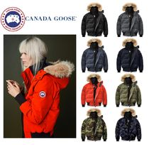 CANADA GOOSE SAVONA Short Casual Style Fur Plain Down Jackets