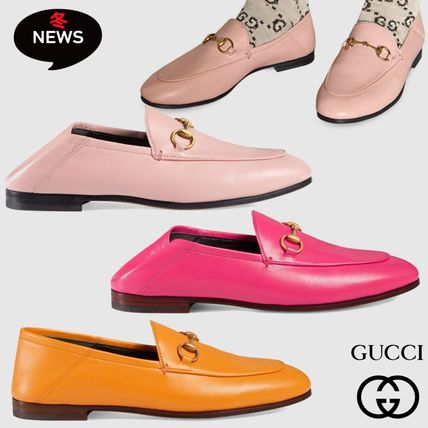 e7cff65018df ... GUCCI Loafer Round Toe Plain Leather Office Style Loafer Pumps   Mules  ...