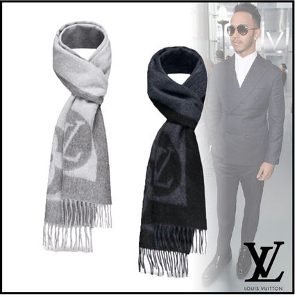 Louis Vuitton Monoglam Wool Plain Scarves