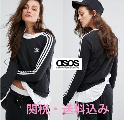 adidas Crew Neck Long Sleeves Cotton T-Shirts