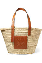 LOEWE Casual Style Plain Leather Straw Bags