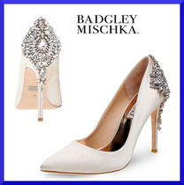 Badgley Mischka Plain Pin Heels Party Style Pointed Toe Pumps & Mules