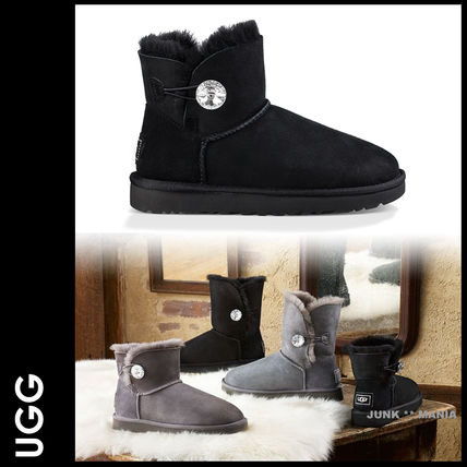 UGG Australia Casual Style Sheepskin Plain Ankle & Booties Boots