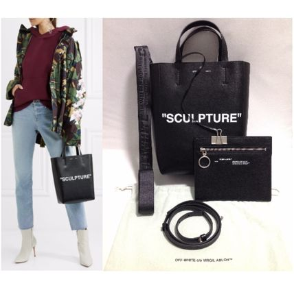 Unisex Street Style 2WAY Leather Totes