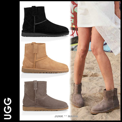 UGG Australia Casual Style Suede Plain Ankle & Booties Boots