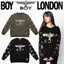 BOY LONDON Crew Neck Street Style Long Sleeves Other Animal Patterns