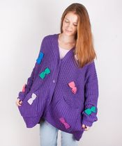 LAZY OAF Cable Knit Tropical Patterns Street Style Cotton Long