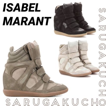 Isabel Marant Casual Style Suede Platform & Wedge Sneakers