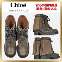 See by Chloe Mountain Boots Rubber Sole Casual Style Unisex Plain Leather