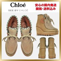 See by Chloe Mountain Boots Suede Plain Elegant Style Outdoor Boots