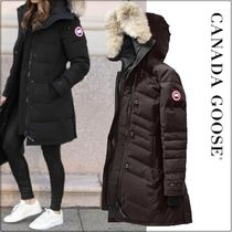 CANADA GOOSE LORETTE Fur Blended Fabrics Plain Medium Down Jackets