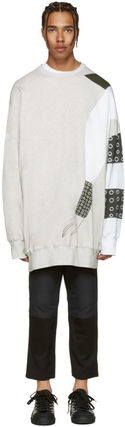 Crew Neck Collaboration Long Sleeves Cotton Oversized