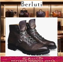 Berluti Mountain Boots Leather Outdoor Boots