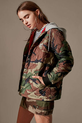 Short Camouflage Casual Style Street Style Collaboration