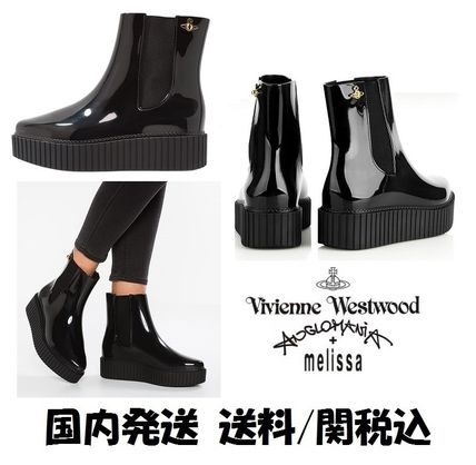 Vivienne Westwood Round Toe Collaboration Rain Boots Boots