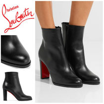 Christian Louboutin Plain Leather Elegant Style Ankle & Booties Boots