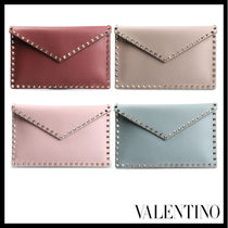 VALENTINO Street Style Leather Clutches