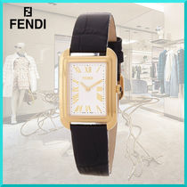 FENDI Square Quartz Watches Stainless Elegant Style Analog Watches